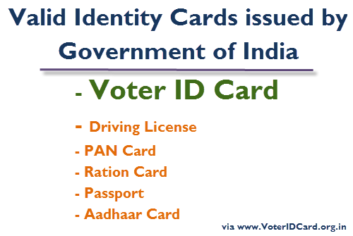 Election Card or Voter Card can be used as a valid photo identity proof