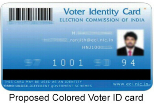 How to get a colored Voter ID Card instead of black and white election card
