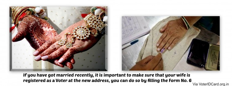 Voter ID Form 6 - Recently got married? Here is how you can register your wife at the new address