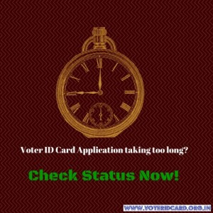 how to check voter id card application status