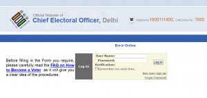 How to apply for Voter ID card via CEO Delhi login?