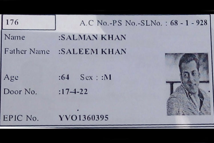 Voter ID Card salman