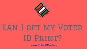 Voter ID Print
